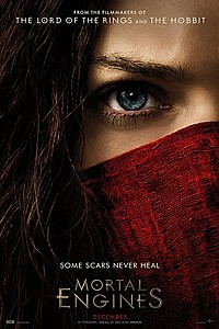 Mortal Engines in 3D movie poster