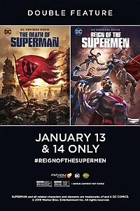 Death of Superman / Reign of the Supermen Double Feature movie poster
