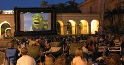Outdoor Movies on and Inflatable Movie Screen in San Diego California