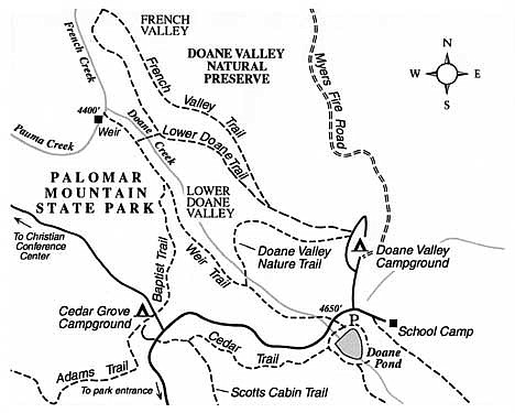 Tour Doane and French valleys on Palomar Mountain, and