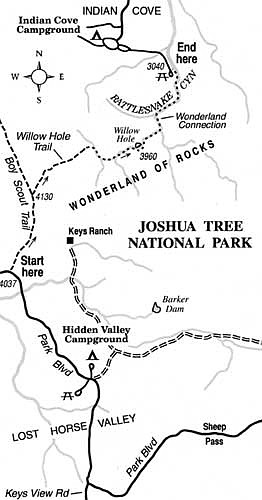 Joshua Tree Topographic Map.Pick Your Way Over Boulder Mazes On The Wonderland Of Rocks Traverse