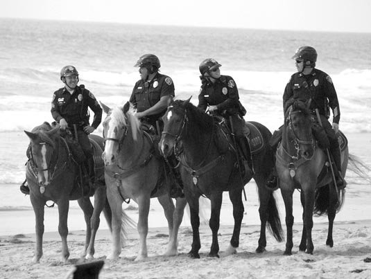 Mounted beach patrol
