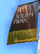 South Park banners along major streets of South Park.