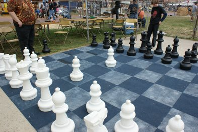 Play with chess champions at the SD County Fair.
