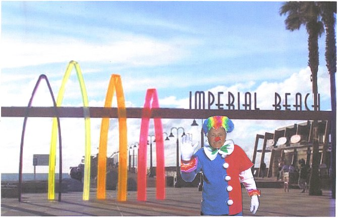 "Councilman Fred McLean/ the ""CLOWN"" on City Council.  AKA