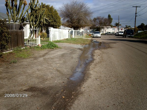 A street in southwestern Chula Vista after it rained. More at www.chulavistaissues.org