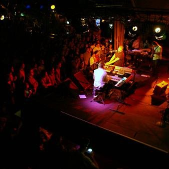 One of the hottest clubs on the West Coast - The Belly Up Tavern in Solana Beach. Performing:: The Album Leaf (winner of the San Diego Music Award for Best Electronic Band numerous times).