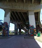 Barrio Logan selected land beneath the bridge for Chicano Park.