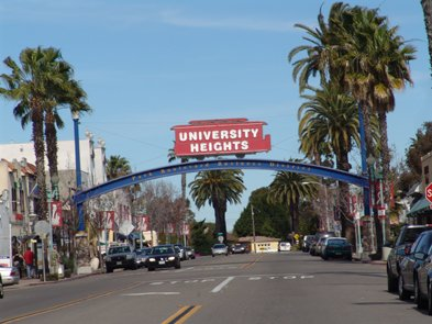 University Heights sign on Park Boulevard.