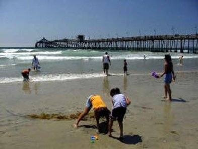 Imperial Beach residents spending the day at the beach