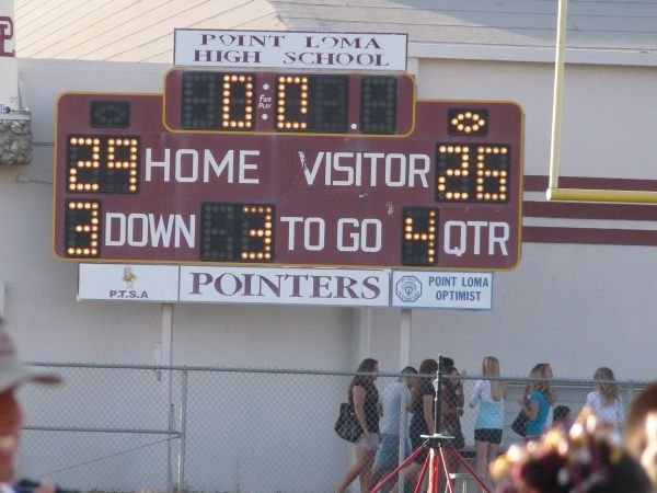 Final score: Point Loma 29, Monte Vista 26
