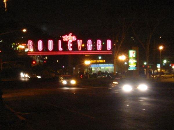 El Cajon Boulevard sign at night