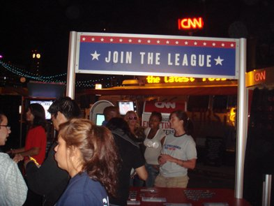 CNN campaign = Join the League = at Street Scene.