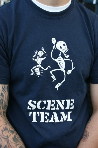 Scene Team shirts flood East Village during Street Scene.