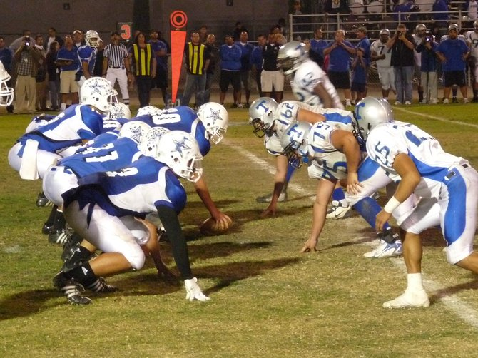The line of scrimmage