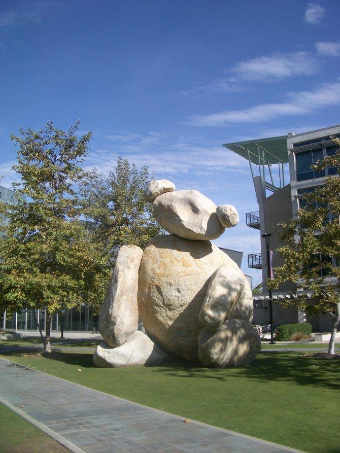 Bear Sculpture by Tim Hawkinson