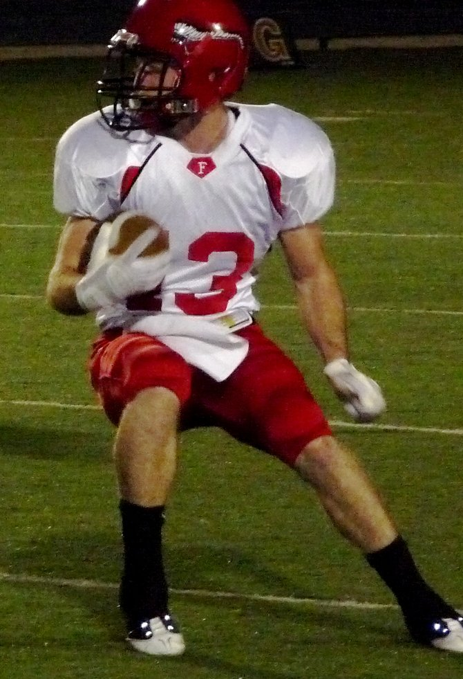 Fallbrook receiver Jeremy Hanson makes a cut upfield