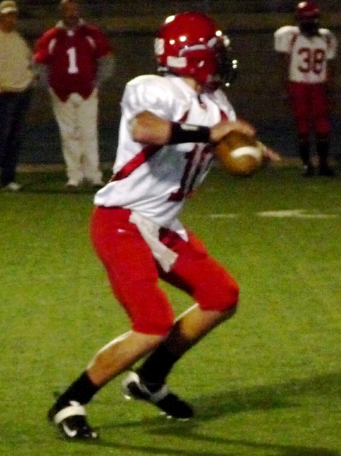 Fallbrook quarterback Michael Welsh gets ready to throw the ball