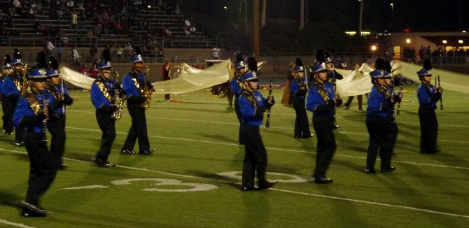 "Mira Mesa's band, ""The Sapphire Sound,"" performed at halftime"