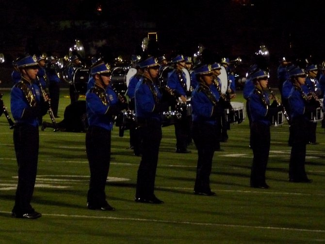 The woodwinds in Mira Mesa's band