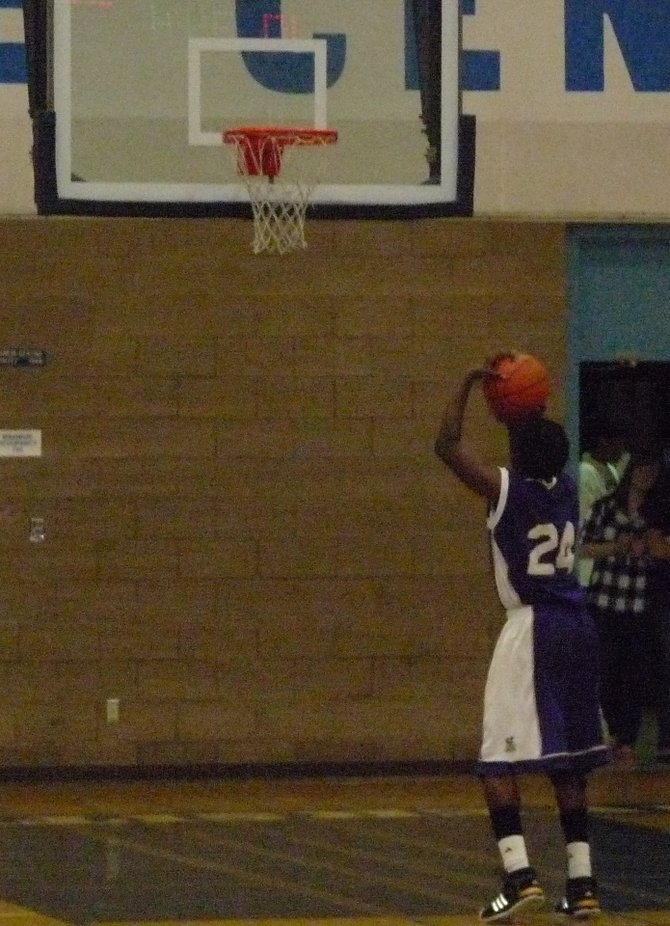 St. Augustine guard Stephon Lamar shoots a free throw in the fourth quarter