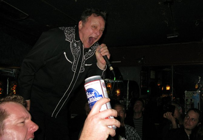 Gary Heffron screaming at the recent Penetrators show at the Casbah... just like he did in the &
