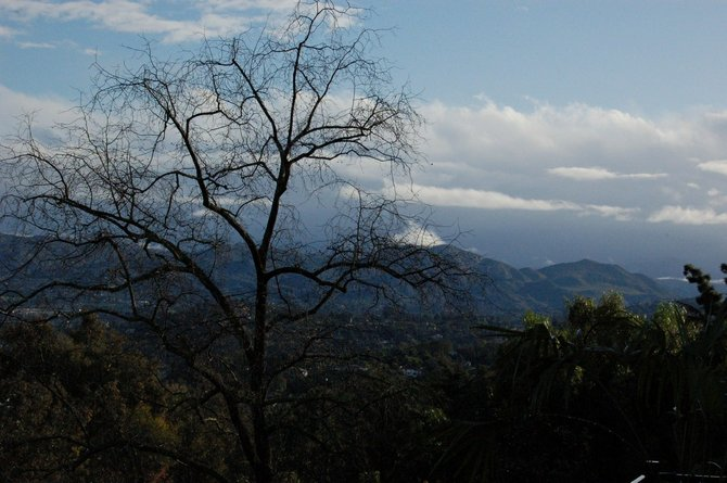 A view from Mt. Helix toward the mountains in the east, Saturday morning, Feb. 7, 2009