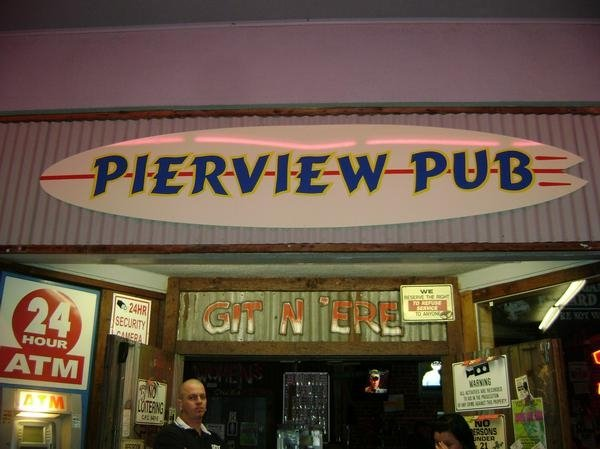 The Front Door to Pierview Pub/Bub's Whiskey Dive in Oceanside....
