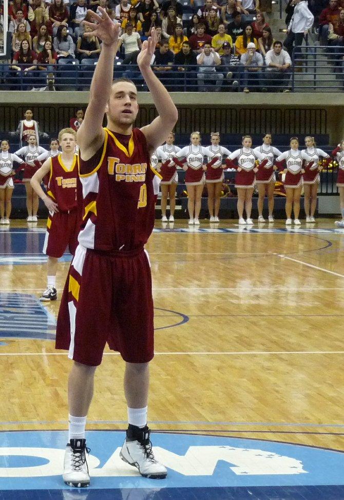 Torrey Pines center Colin Porter shoots a free throw