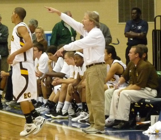 El Camino head coach Ray Johnson provides direction from the bench