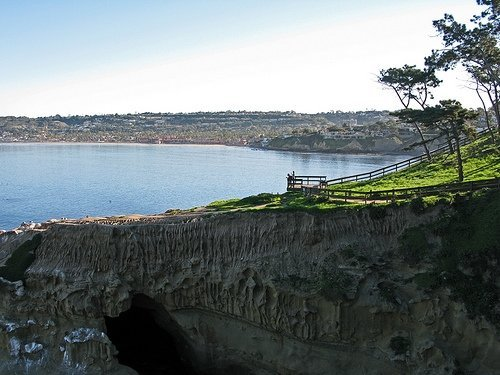 A viewpoint overlooking the cove in La Jolla.