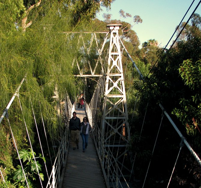 The Suspension Bridge on Spruce St. in Banker's Hill. It makes a great photo subject. One of San Diego's best secret photo-ops.