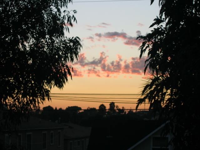 Sunset in La Mesa. Taken by my boyfriend, Joe Collins, from the roof top terrace of our home near La Mesa Village looking west.