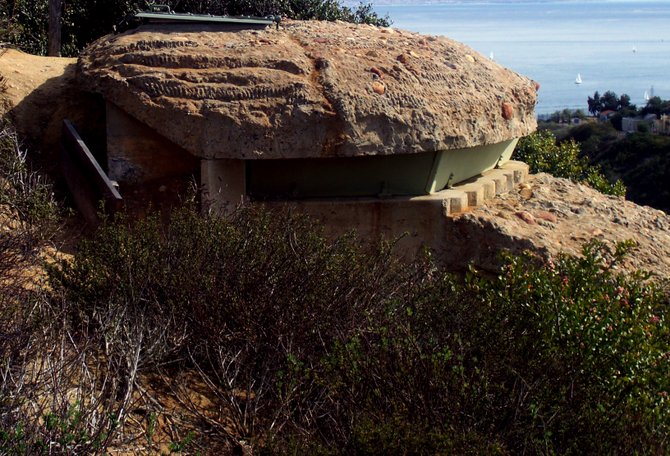 One of the World War II bunkers used to lookout for enemies coming to San Diego Shores, at the Cabrillo National Monument Park.