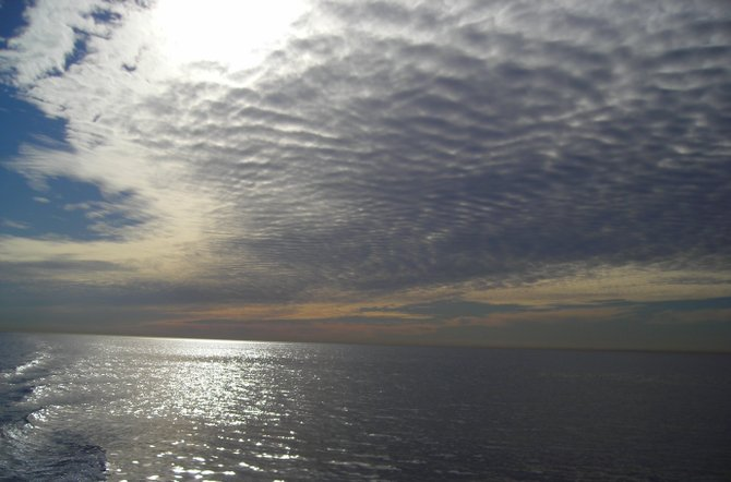 """Ripples in the Sky"" -- taken while whale watching"