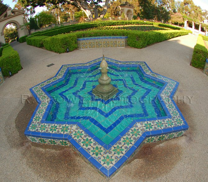 One of the many fountains located in Balboa Park.