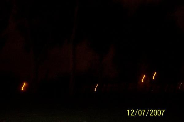 Photo of the ghosts in Mission Hills famous Pioneer Park.