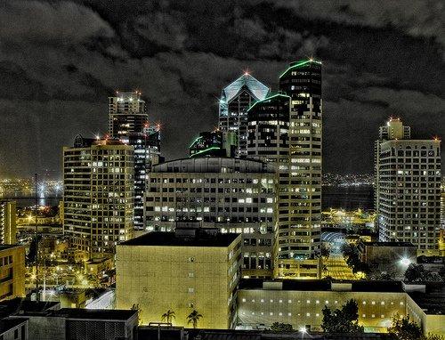 View of Downtown San Diego Skyline.