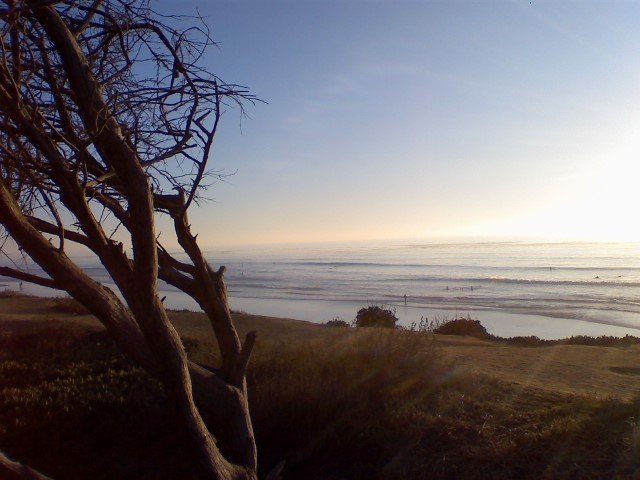 Getting ready to paddle out before the sunset in Carlsbad.