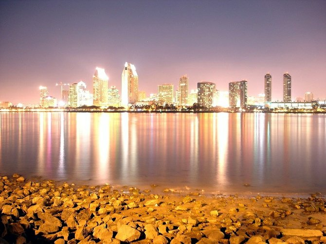 I was at the pier in Coronado and I did a long exposure shot of Downtown San Diego which made this surreal looking picture.