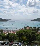 St. Thomas: A beautiful shot overlooking the bay at Charlotte Amelie, St. Thomas, U.S. Virgin ...