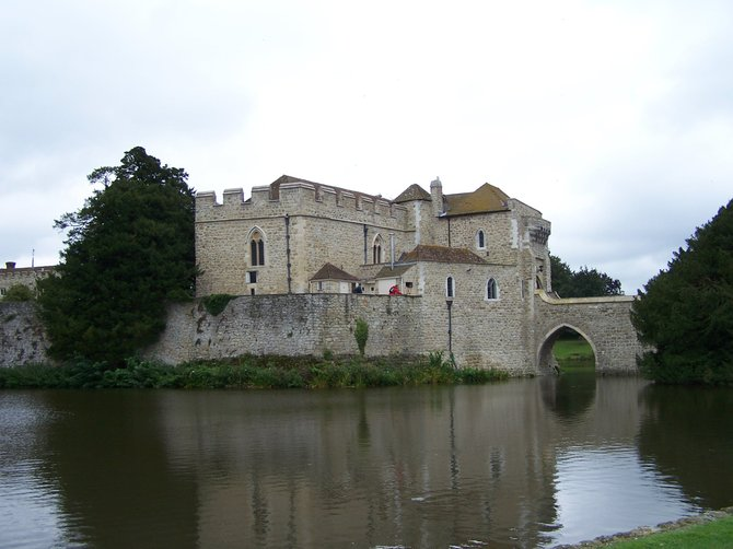Leeds Castle in Kent, England is a private castle in great condition