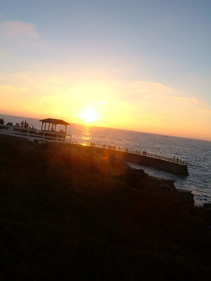 La Jolla Cove at sunset.