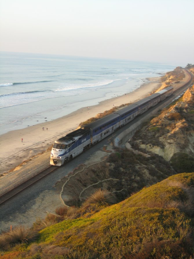 This is so purely California. Beach, sun and a train ride on the coast.