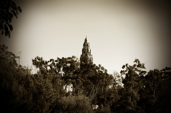 Museum of Man Tower -- view from the San Diego Zoo