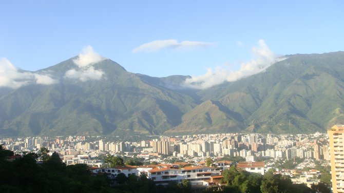 The beautiful view of Caracas, Venezuela from my cousin's living room
