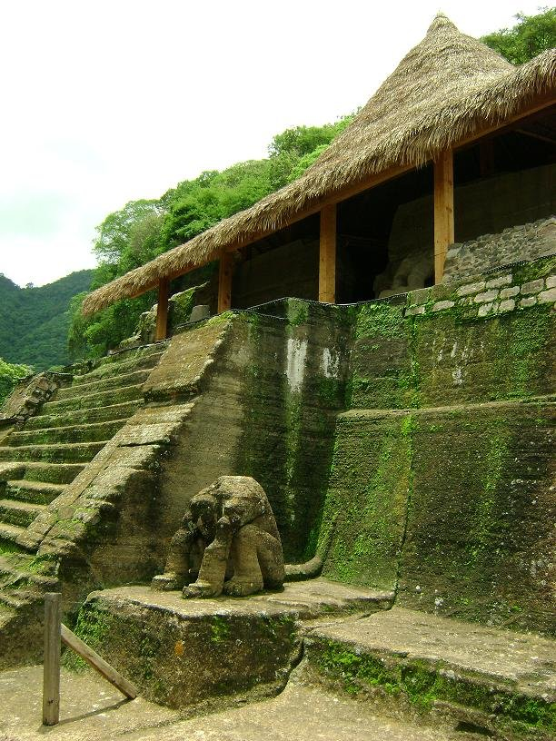 This is a picture of the ruins at Malinalco, Mexico, which was believed to have been a Mexican stronghold. This is pre-Mayan.