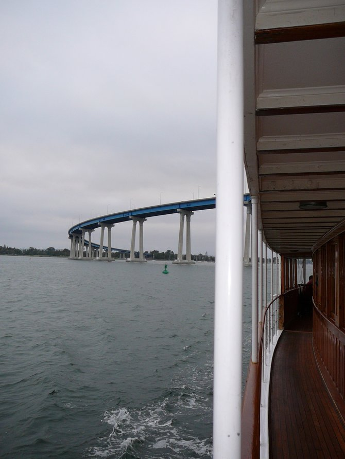 View of the Coronado Bridge from onboard the Hornblower High Spirit.