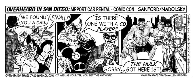 Airport car rental: Comic-Con