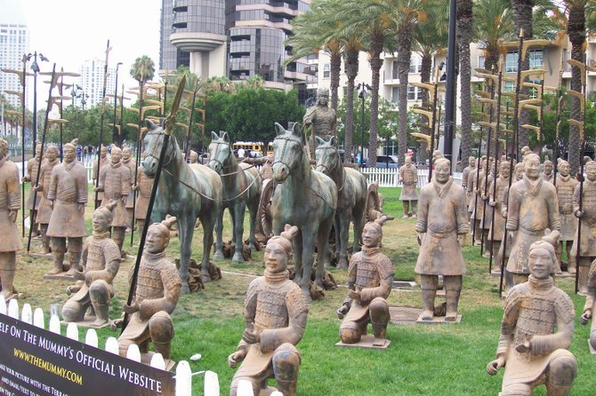 The Mummy Soldiers were displayed in Downtown San Diego in front of the Convention Center during Comic Con 2008.